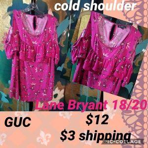 Lane Bryant pink cold shoulder 18/20